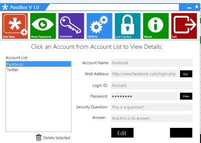 View 400x284 PassBox : Free Password Manager & Generator for Windows 8 | 7