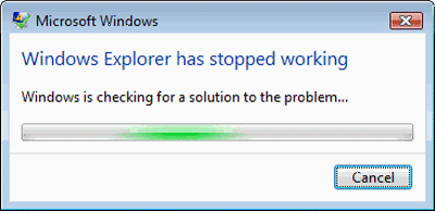 Windows File Explorer has stopped working