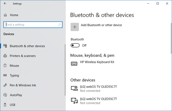 Windows can't find wireless devices connected to a network