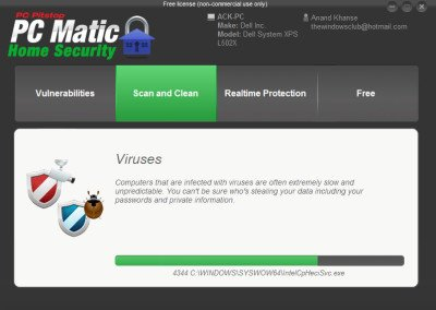 2 PC Matic Home Security 400x284 PC PitStop PC Matic Home Security Free Review & Download