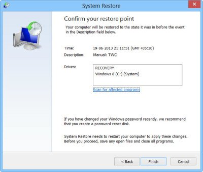 3 System Restore Point