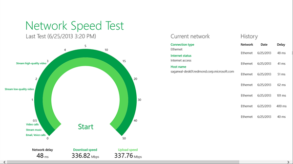 Network Speed Test App for Windows 10
