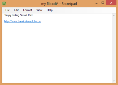 Secret Pad Encrypt Notepad file