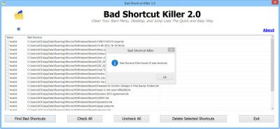 remove broken shortcuts