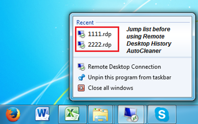 Remote Desktop Connection Clear History