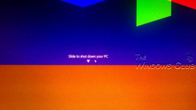 Slide To Shut Down on Windows 8.1