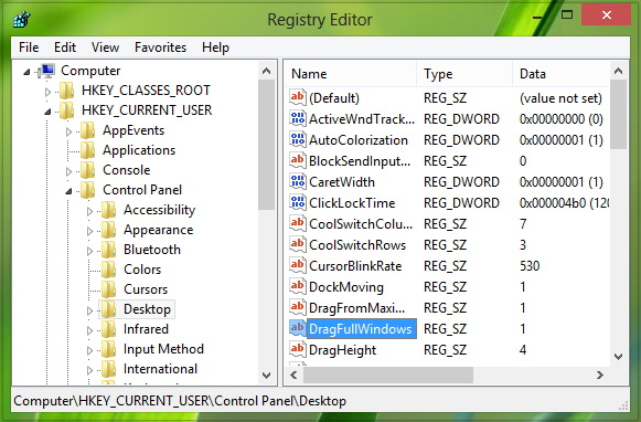 Disable-Window-Contents-While-Dragging-In-Windows-8-3
