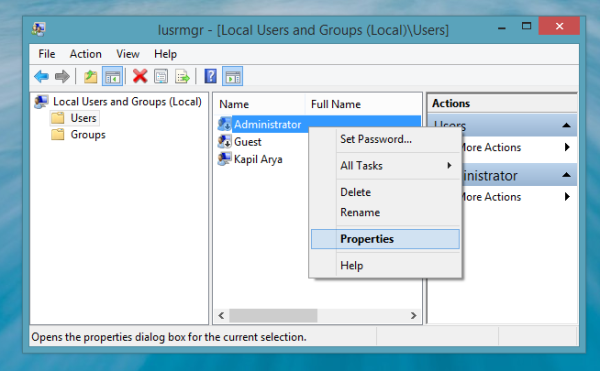 Activate Administrator Account in WorkGroup Mode