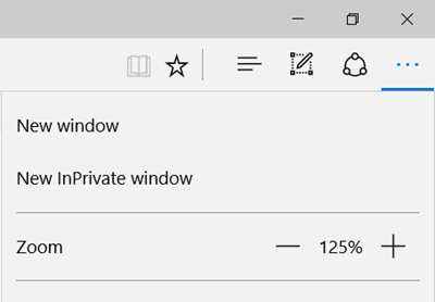 InPrivate window in Edge