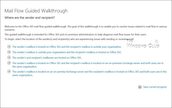 Office 365 Mail Flow Troubleshooter