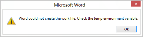word could not create work file