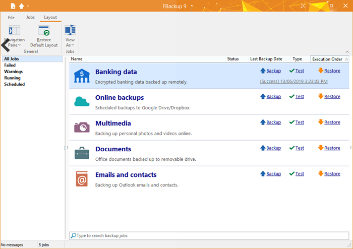 FBackup is a free Backup Software