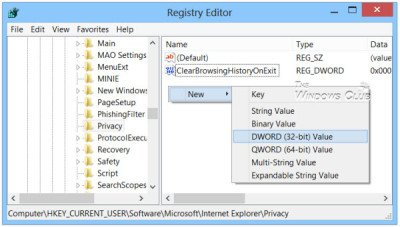 inprivate-registry