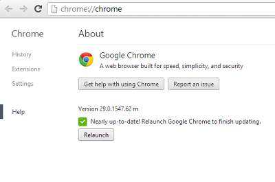 up to date chrome