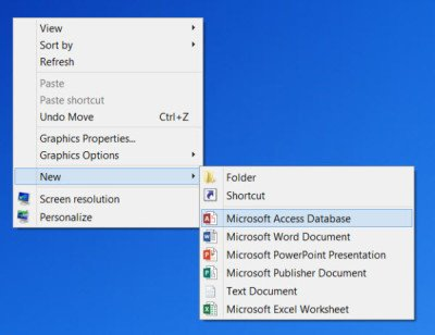 Remove items from New Context Menu