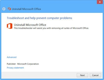 Uninstall Microsoft Office 2013 or Office 365