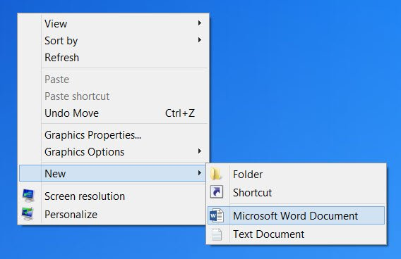 delete items from New Context Menu