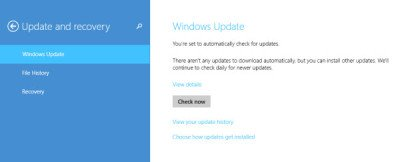 windows 8.1 update and recovery option 1