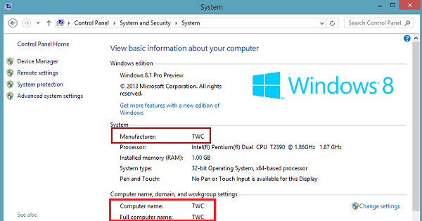Add or Change OEM Information in Windows