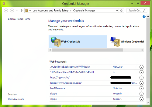 credential manager not working