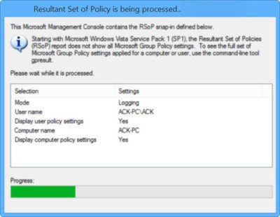 Group Policy Results Tool