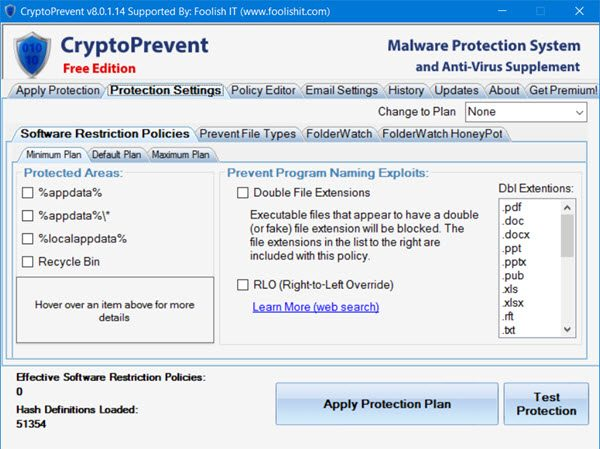 cryptoprevent block ransomware tool