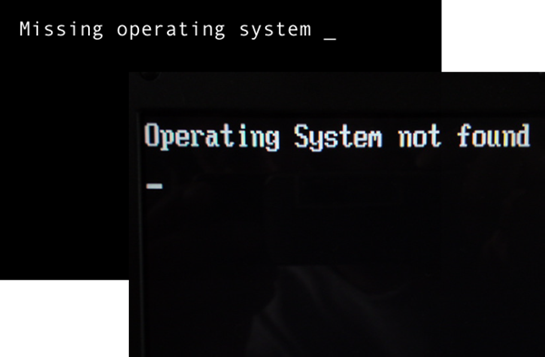 Missing Operating System Not Found