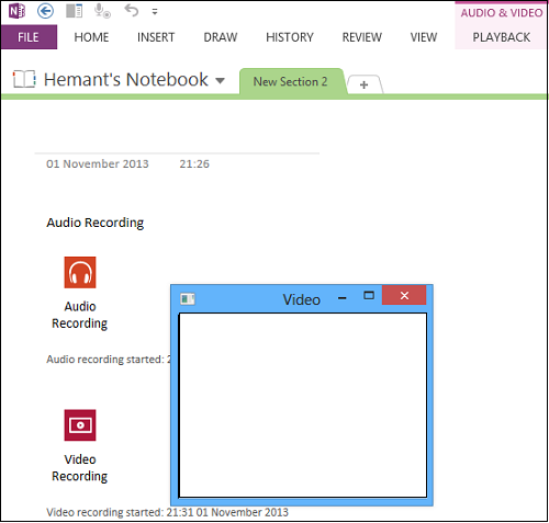 Record Audio or Video with OneNote 2013
