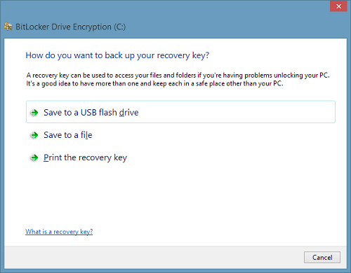 Your Recovery Key Couldn't Be Saved To This Location