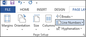 Adding line numbers in Word