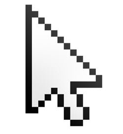 why is the mouse cursor tilted