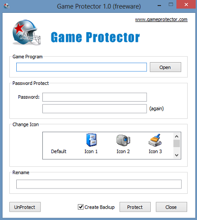 Password protect Games