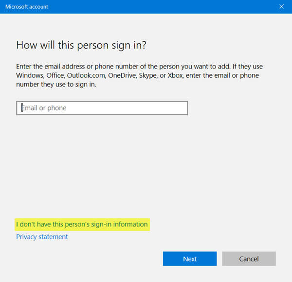 Create Local Account in Windows 10 1