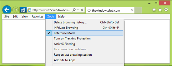 Enterprise Mode in Internet Explorer 11