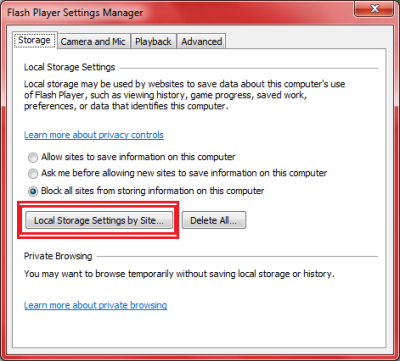 Image 1 - How to configure Flash Player