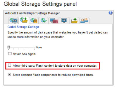 disable adobe flash cookies