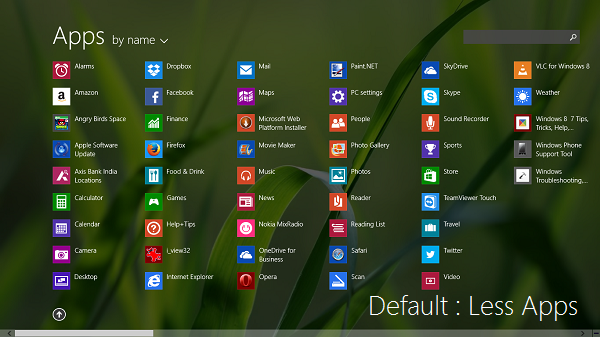 How to show less or Show more Apps in Windows 8.1 Start Screen