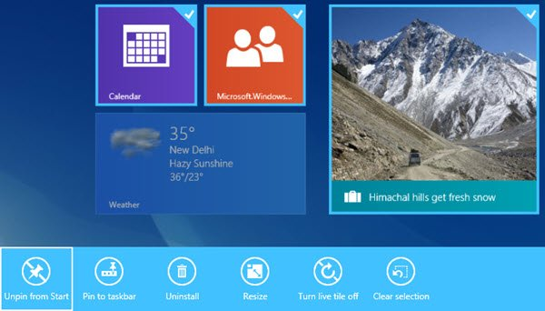 select multiple tiles windows 8