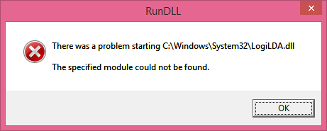 There was a problem starting C:\Windows\System32\LogiLDA.dll
