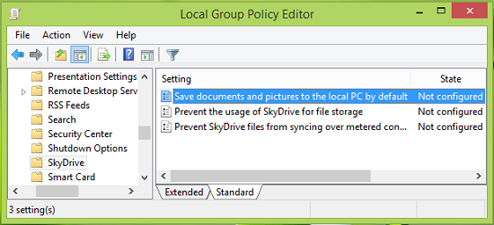 Make Windows 8.1 save Documents locally on hard drive instead of OneDrive