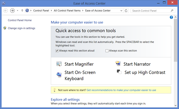 on-screen keyboard windows 8