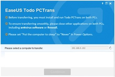 transfer data and application