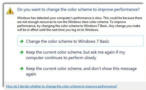 Change the color scheme to improve Performance