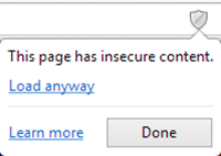 Disable Insecure Content warning in Chrome
