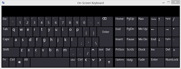 onscreen keyboard numeric pad