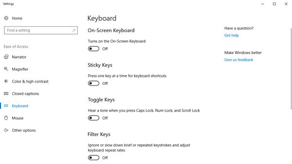 onscreen keyboard windows 10