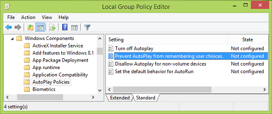 Prevent AutoPlay from remembering User Choice