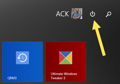 Show or remove Power button on Windows 8.1 Start Screen