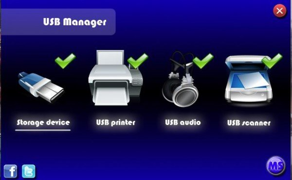 USB Manager for Windows