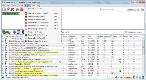 search torrent files